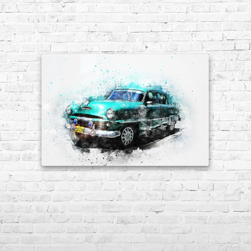 car HD Sublimation Metal print with Decorating Float Frame (BOX)