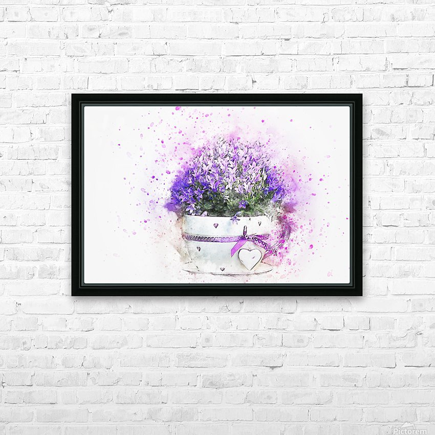 flower HD Sublimation Metal print with Decorating Float Frame (BOX)