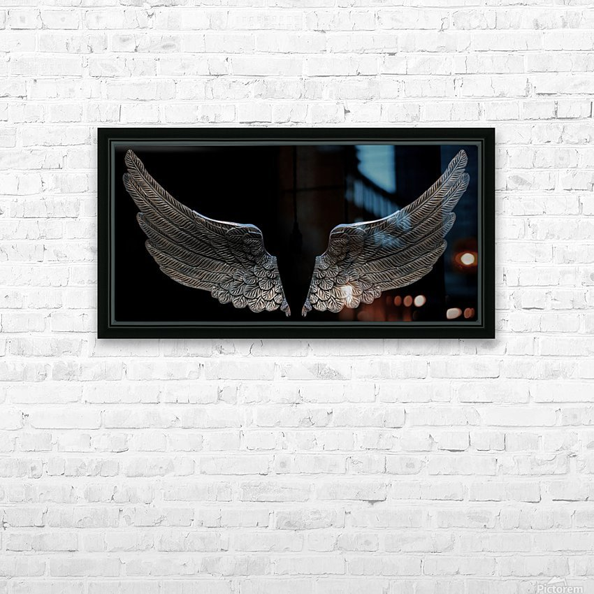 wings HD Sublimation Metal print with Decorating Float Frame (BOX)