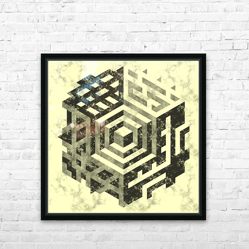 pattern HD Sublimation Metal print with Decorating Float Frame (BOX)