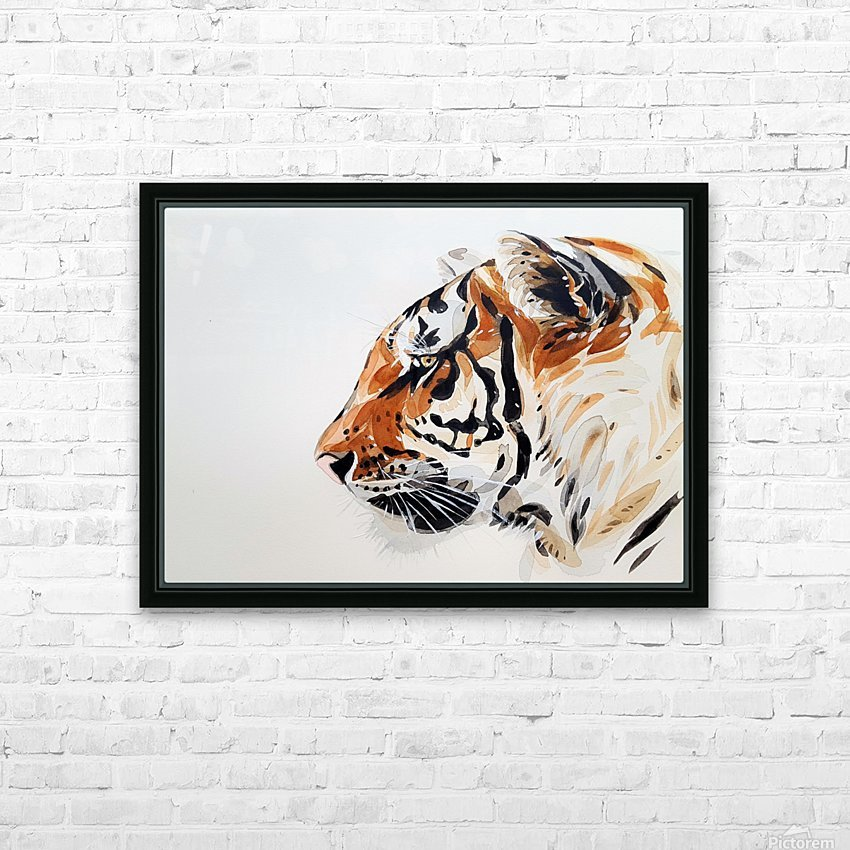 tiger HD Sublimation Metal print with Decorating Float Frame (BOX)