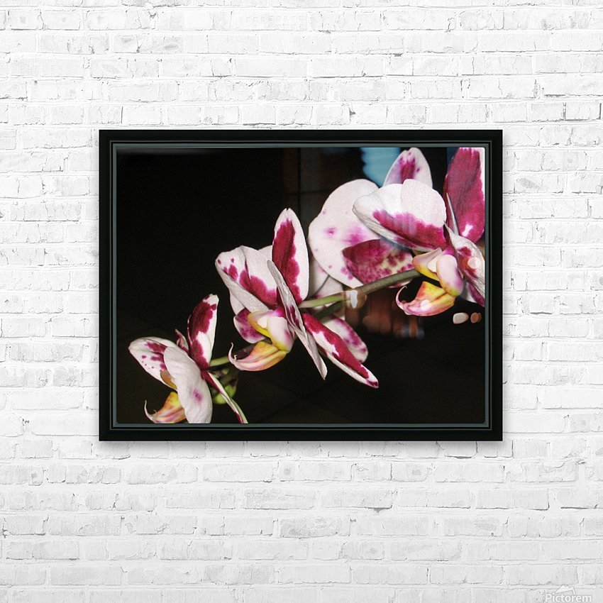 Sexy Orchid HD Sublimation Metal print with Decorating Float Frame (BOX)