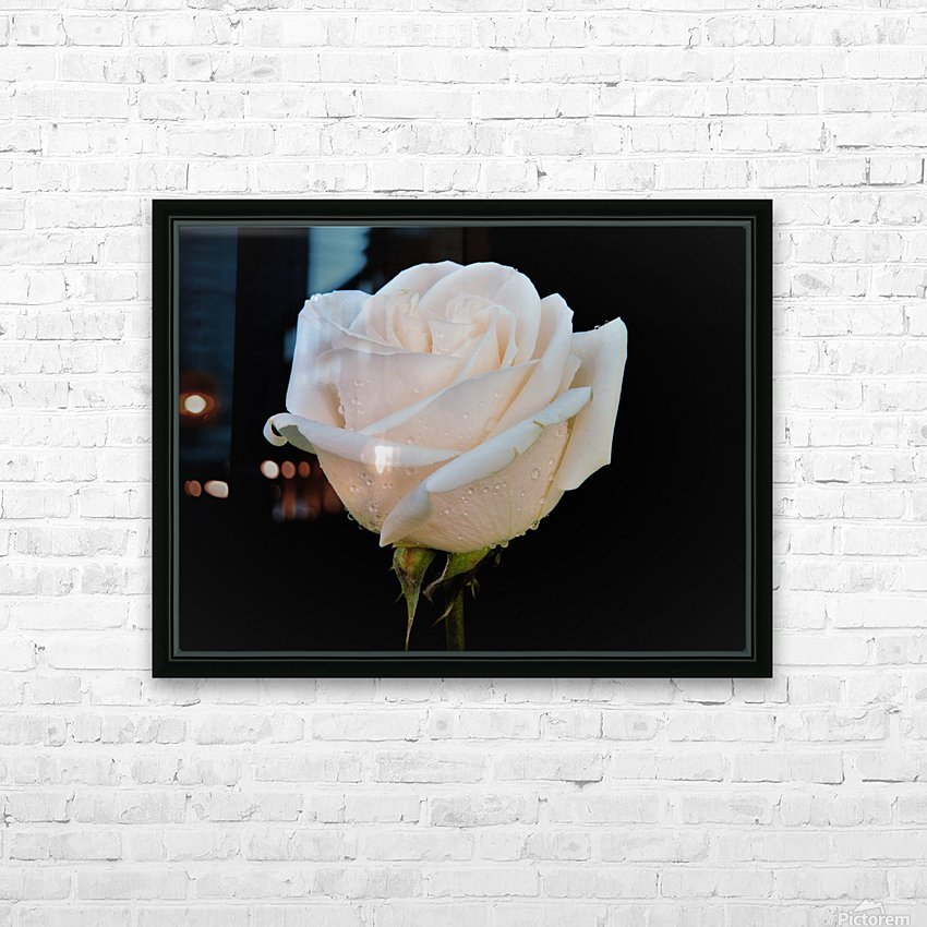 Calming rose HD Sublimation Metal print with Decorating Float Frame (BOX)
