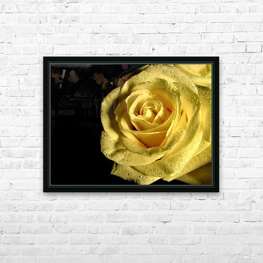 Yellow dew HD Sublimation Metal print with Decorating Float Frame (BOX)