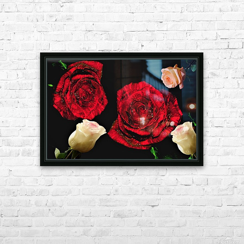 Crazy Roses HD Sublimation Metal print with Decorating Float Frame (BOX)