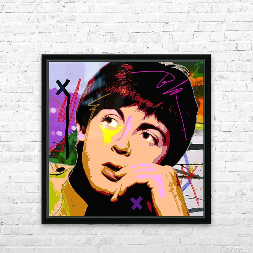 Sir Paul X HD Sublimation Metal print with Decorating Float Frame (BOX)