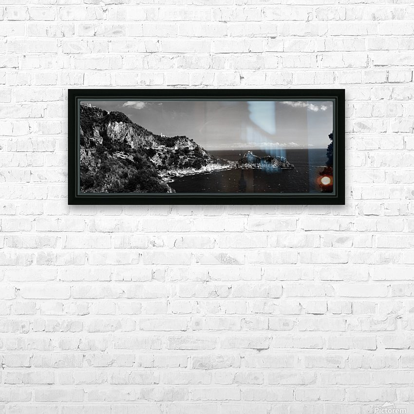 Super panoramic view Amalfi Coast - Italy HD Sublimation Metal print with Decorating Float Frame (BOX)