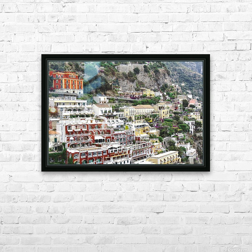 Houses at Amalfi Town - Italy HD Sublimation Metal print with Decorating Float Frame (BOX)