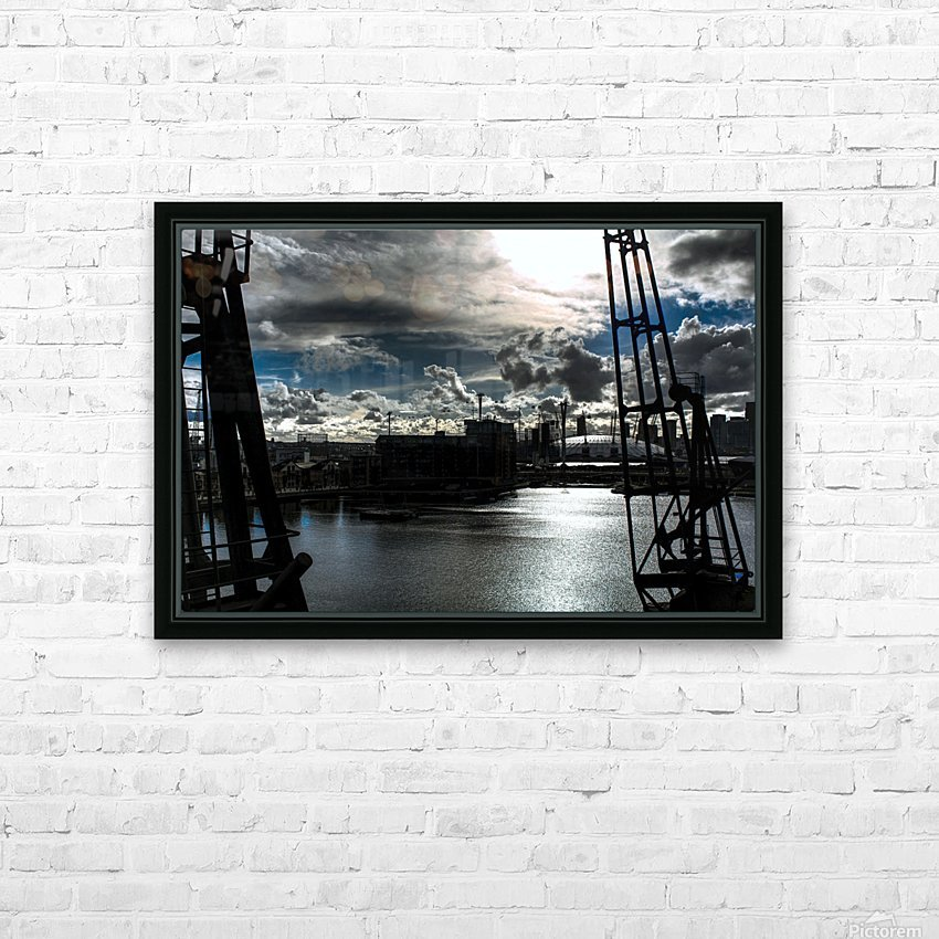 London Dramatic Sky - UK HD Sublimation Metal print with Decorating Float Frame (BOX)