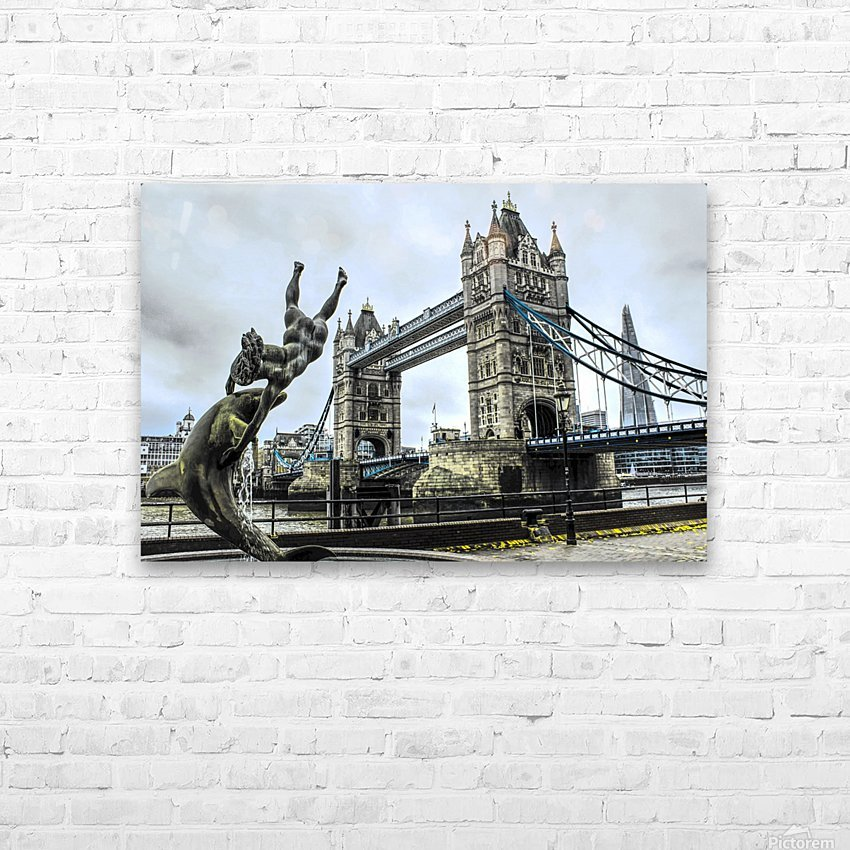 Tower Bridge - London  HD Sublimation Metal print with Decorating Float Frame (BOX)