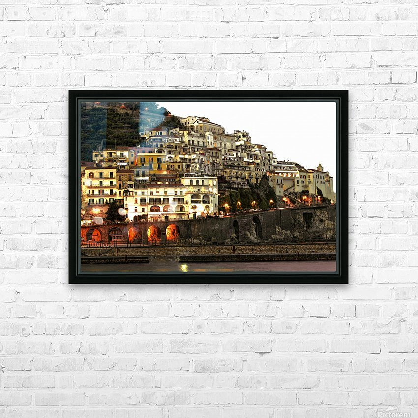 Amalfi Village  Landscape - Italy HD Sublimation Metal print with Decorating Float Frame (BOX)