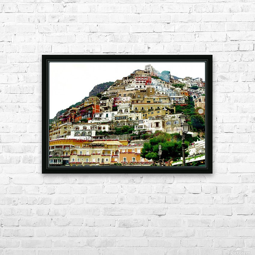 Positano Village in Amalfi Coast - Italy HD Sublimation Metal print with Decorating Float Frame (BOX)