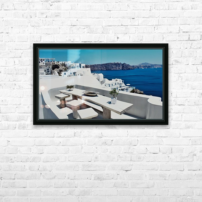 Santorini Landscape - Greece HD Sublimation Metal print with Decorating Float Frame (BOX)
