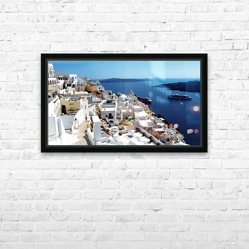 Super panoramic view - Santorini - Greece HD Sublimation Metal print with Decorating Float Frame (BOX)