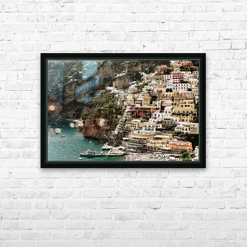 Positano Beach Landscape - Italy HD Sublimation Metal print with Decorating Float Frame (BOX)