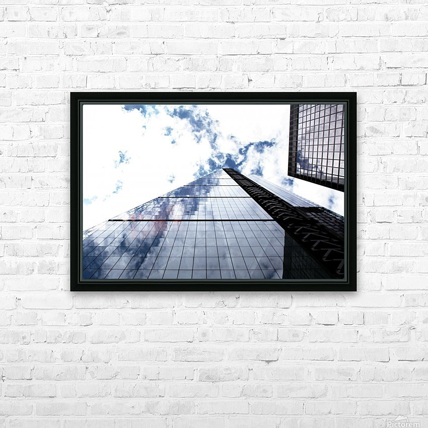 London City - Skyscraper HD Sublimation Metal print with Decorating Float Frame (BOX)