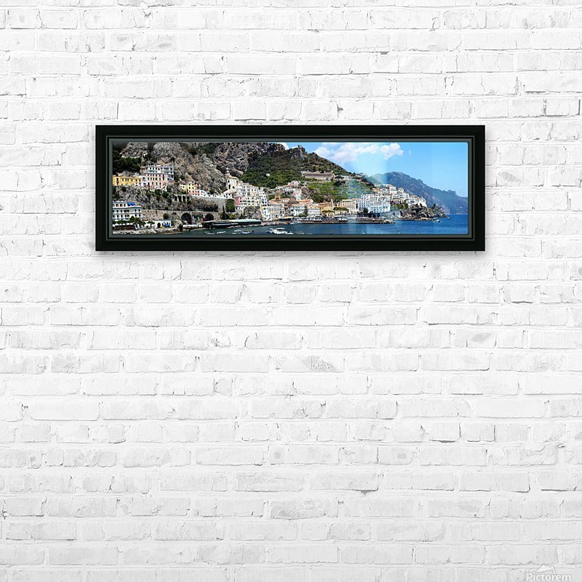 Super panoramic Amalfi City - Italy HD Sublimation Metal print with Decorating Float Frame (BOX)