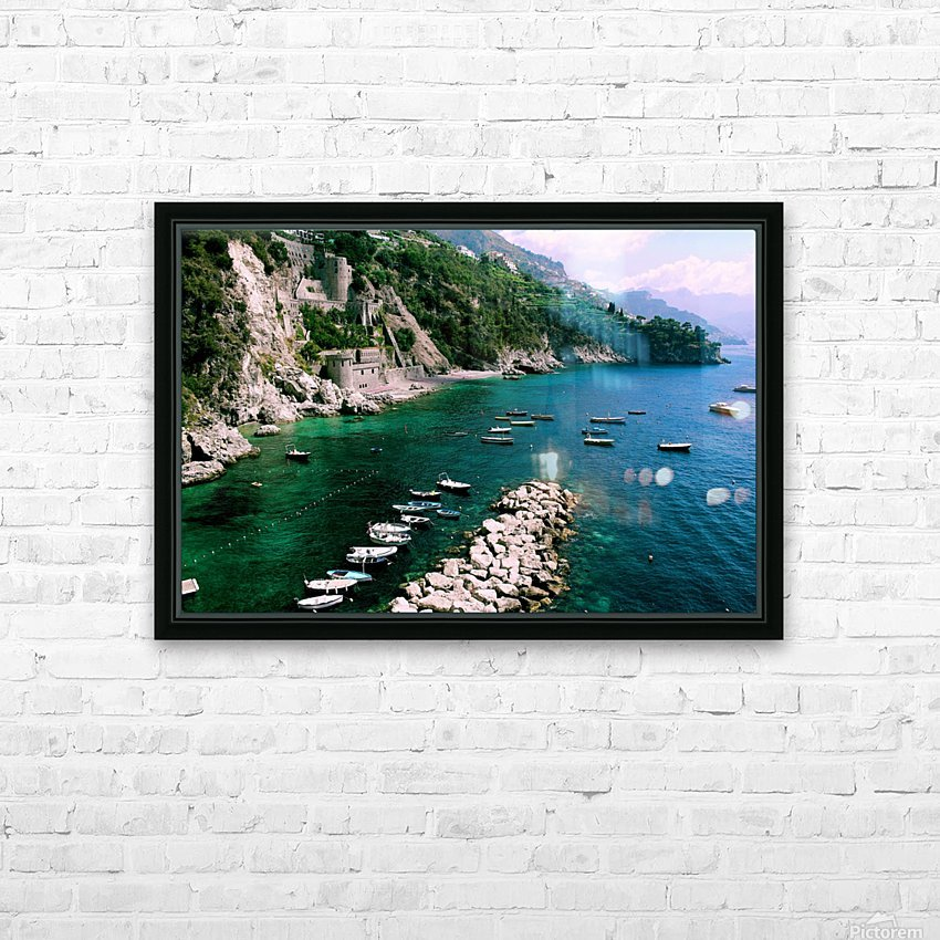 Conca de Marini Beach -  HD Sublimation Metal print with Decorating Float Frame (BOX)