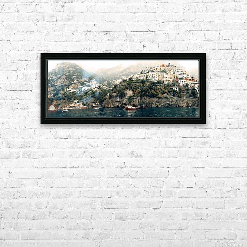 Panoramic Positano - Amalfi Coast - Italy HD Sublimation Metal print with Decorating Float Frame (BOX)