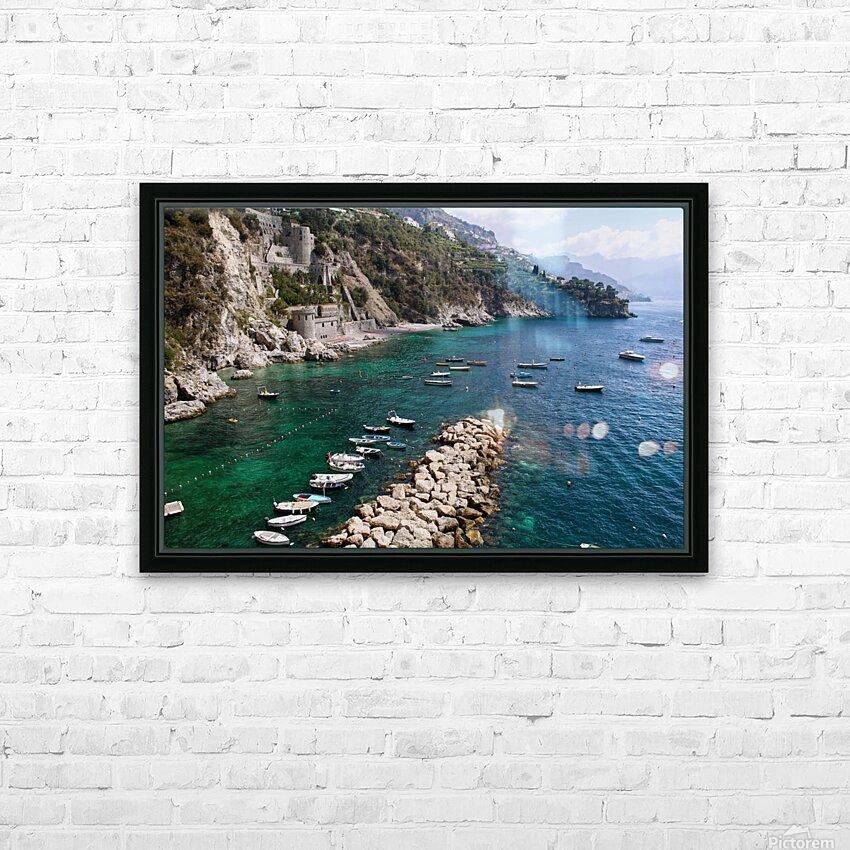 Amalfi Coast - Conca dei Marini Beach - Italy HD Sublimation Metal print with Decorating Float Frame (BOX)