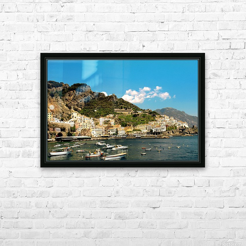 Amalfi Town - Panoramic View - Italy HD Sublimation Metal print with Decorating Float Frame (BOX)
