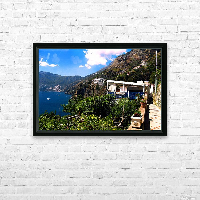 Amalfi Coast Landscape - Italy HD Sublimation Metal print with Decorating Float Frame (BOX)