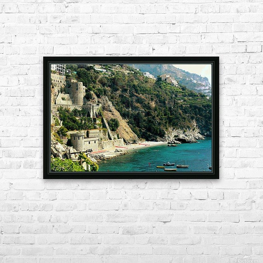 Amalfi Coast Beach - Italy HD Sublimation Metal print with Decorating Float Frame (BOX)