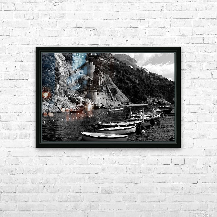 Beautiful View of Amalfi Coast Beach - Italy HD Sublimation Metal print with Decorating Float Frame (BOX)