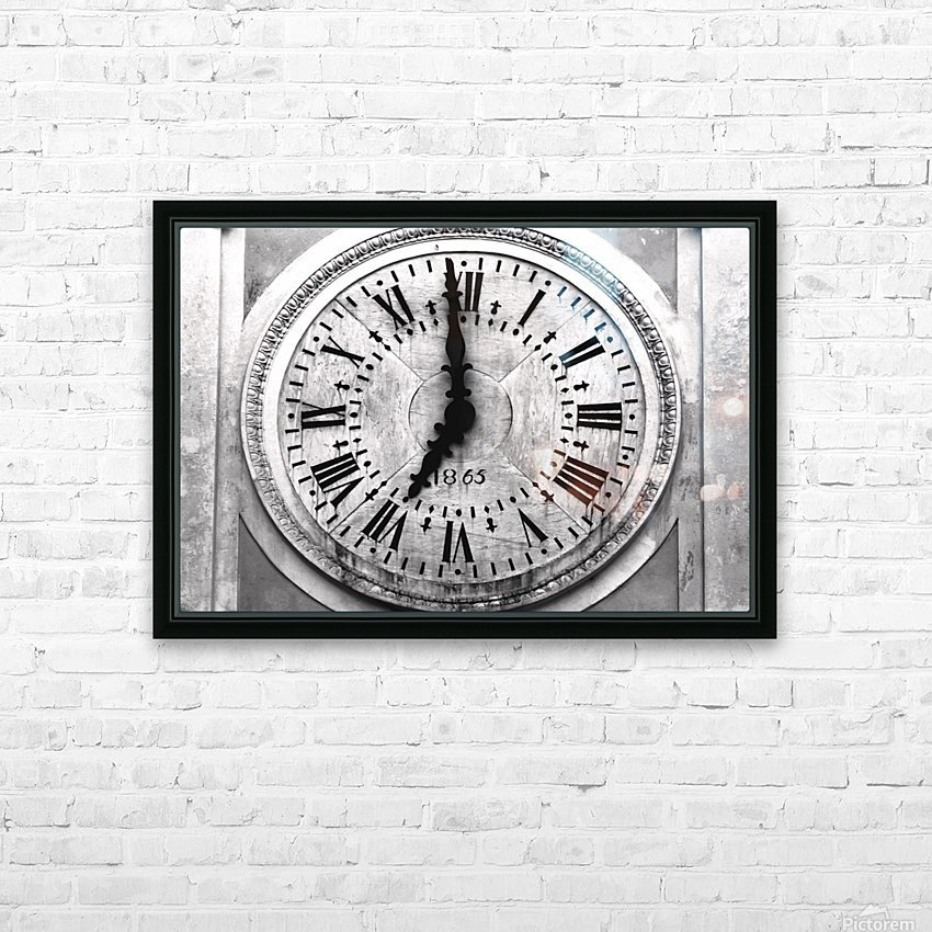 The Old Church Clock HD Sublimation Metal print with Decorating Float Frame (BOX)