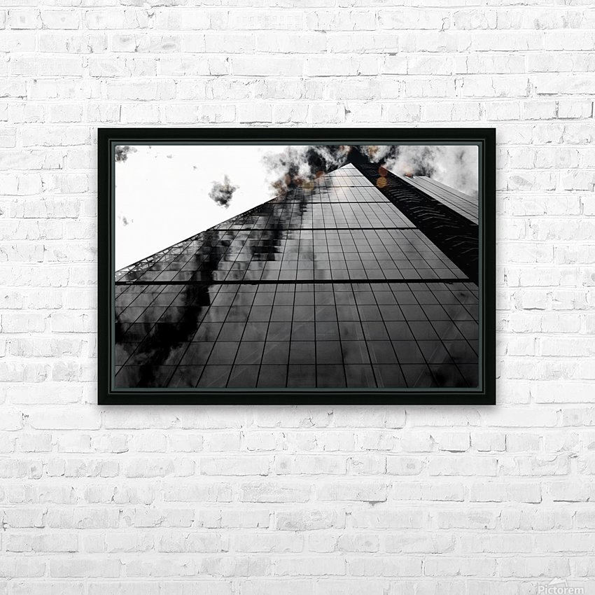 London Skyscraper II - Black and White HD Sublimation Metal print with Decorating Float Frame (BOX)