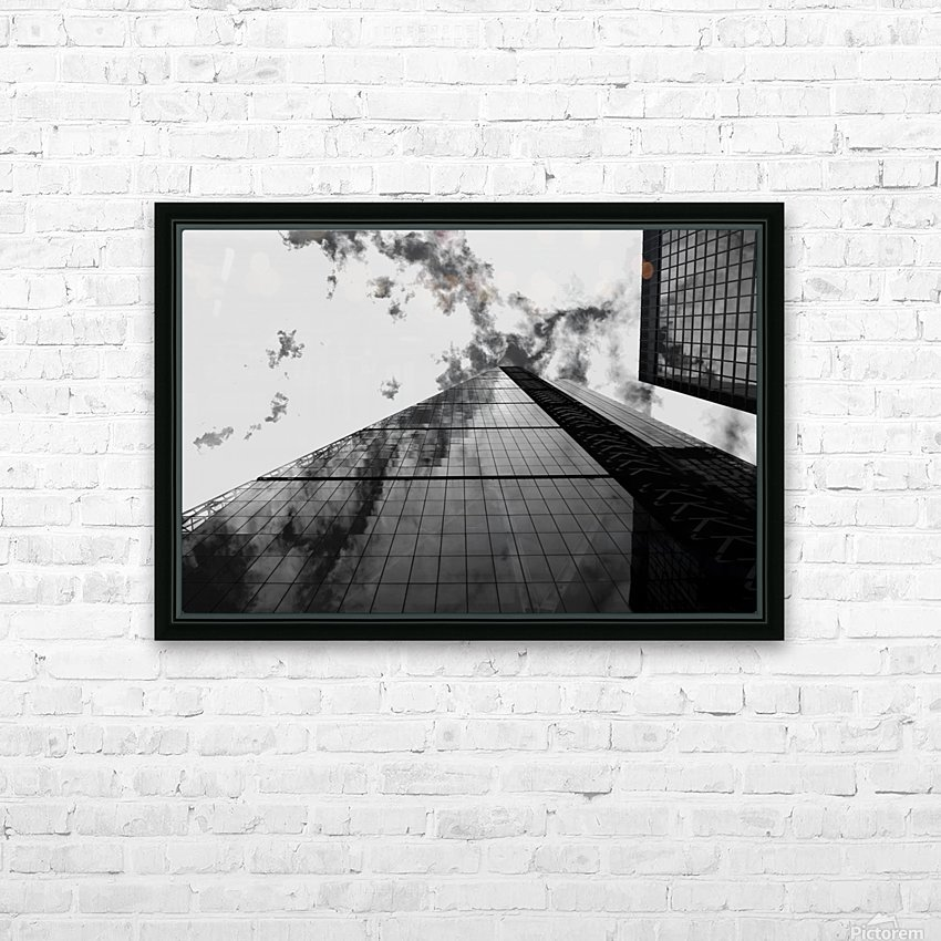 London Skyscraper  - Black and White HD Sublimation Metal print with Decorating Float Frame (BOX)