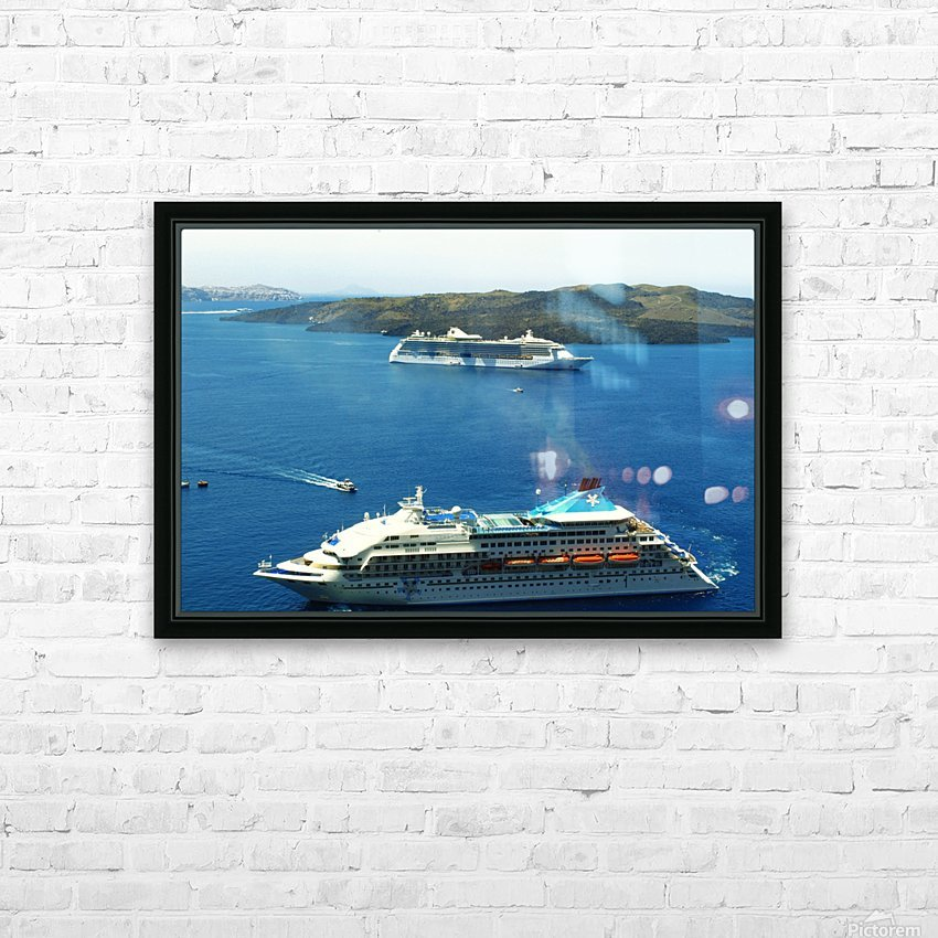 The Cruise Ship in the Blue Ocean HD Sublimation Metal print with Decorating Float Frame (BOX)