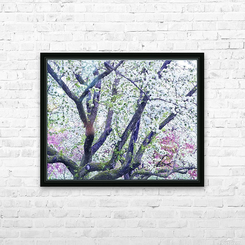 Cherry tree flowers HD Sublimation Metal print with Decorating Float Frame (BOX)