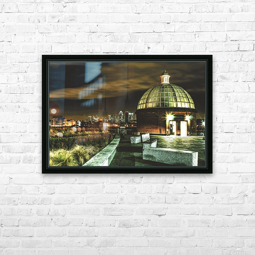 London Night skyline  HD Sublimation Metal print with Decorating Float Frame (BOX)