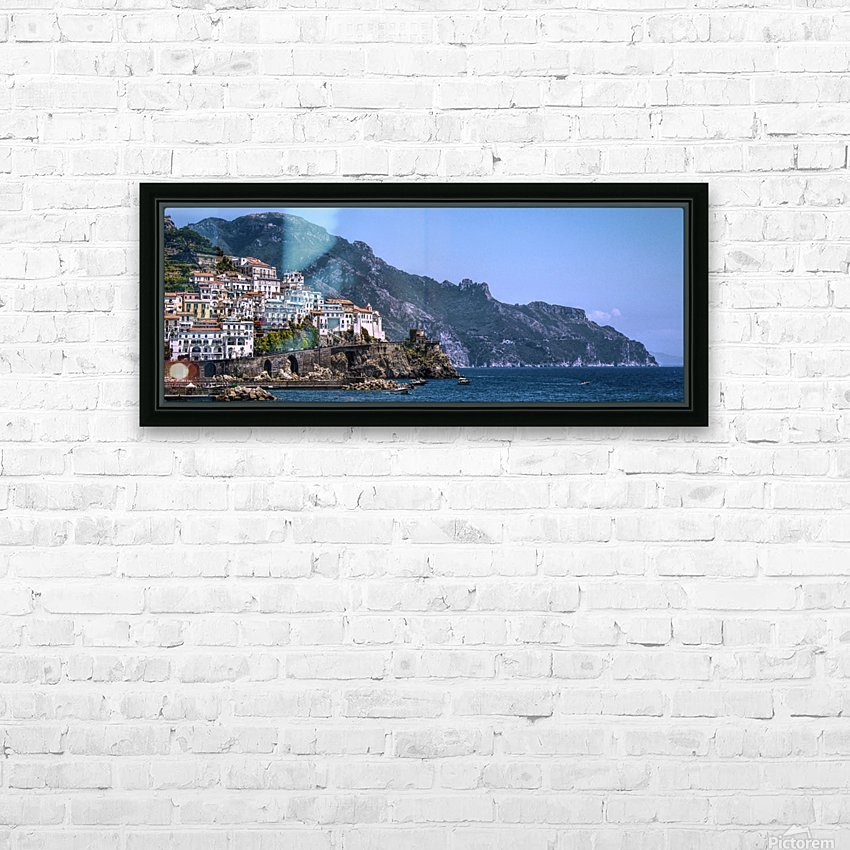 Panoramic Amalfi Coast HD Sublimation Metal print with Decorating Float Frame (BOX)