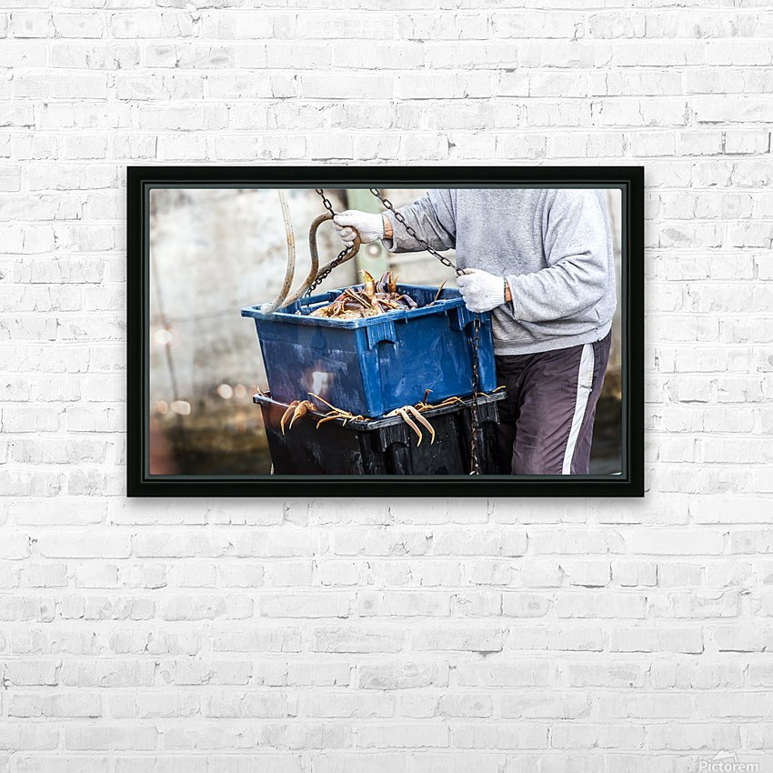 Snowcrab HD Sublimation Metal print with Decorating Float Frame (BOX)