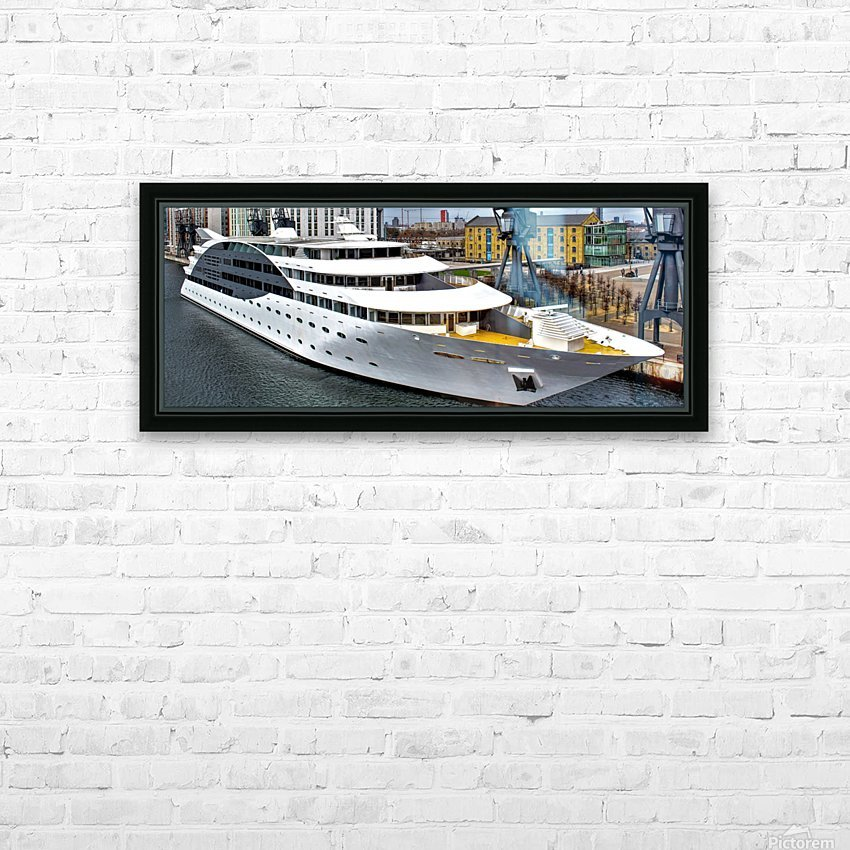 Cruise ship - Super Panoramic HD Sublimation Metal print with Decorating Float Frame (BOX)