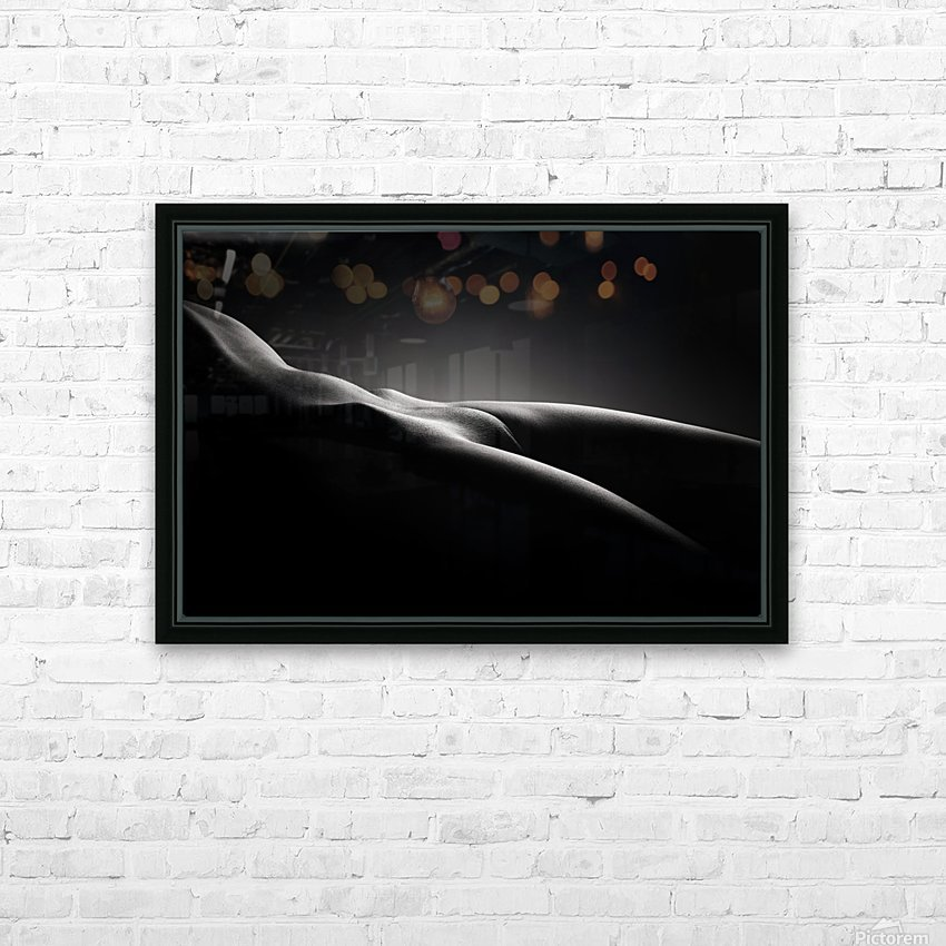 Bodyscape nude HD Sublimation Metal print with Decorating Float Frame (BOX)