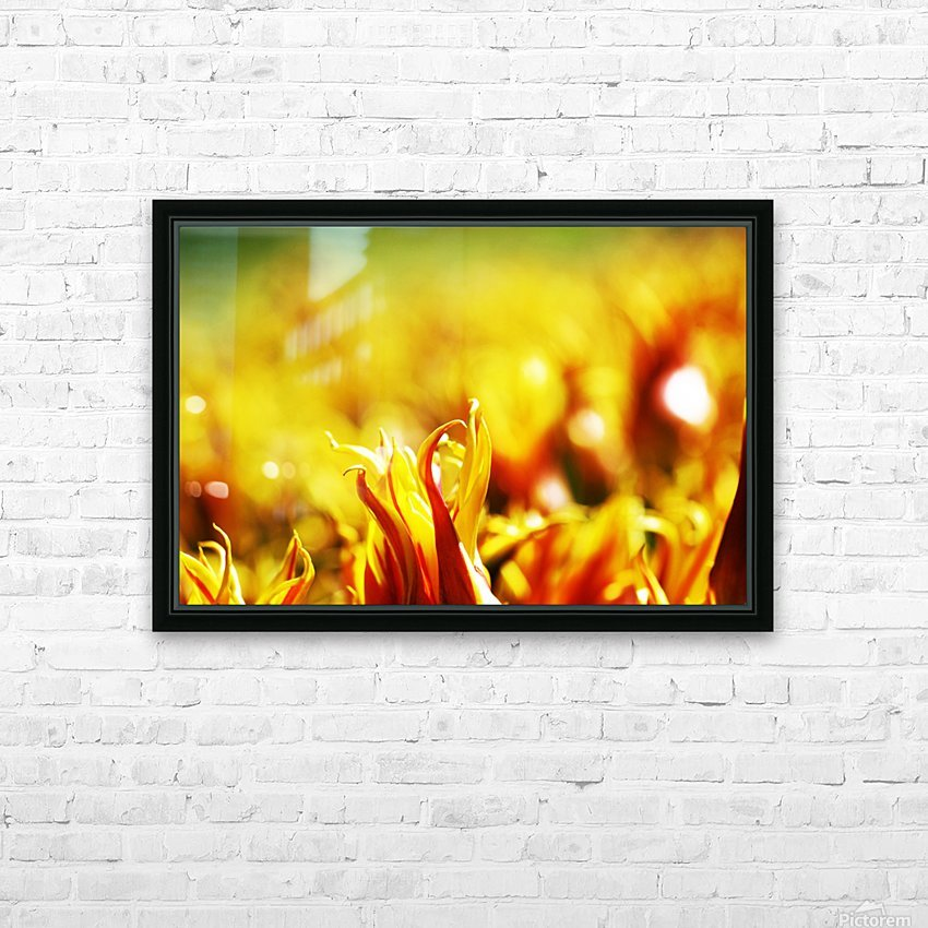 Flower Touch HD Sublimation Metal print with Decorating Float Frame (BOX)