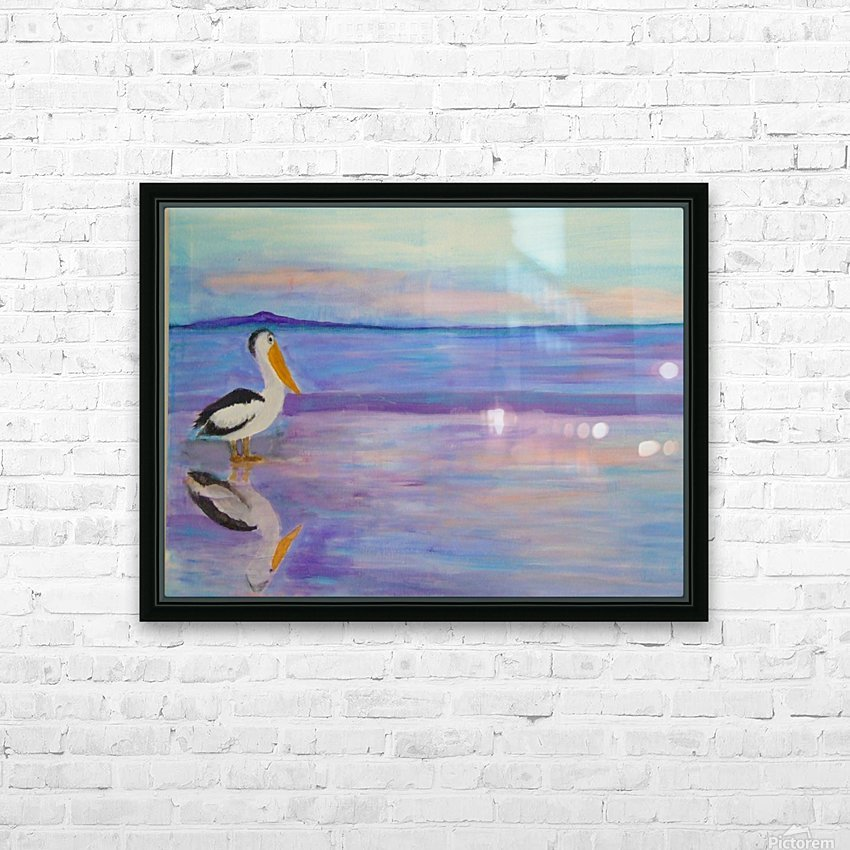 Bird on The Beach HD Sublimation Metal print with Decorating Float Frame (BOX)