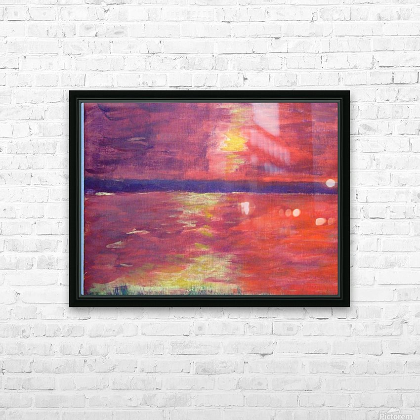 Red Abstract Sunset HD Sublimation Metal print with Decorating Float Frame (BOX)