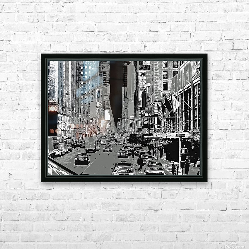 Madison Ave B&W HD Sublimation Metal print with Decorating Float Frame (BOX)