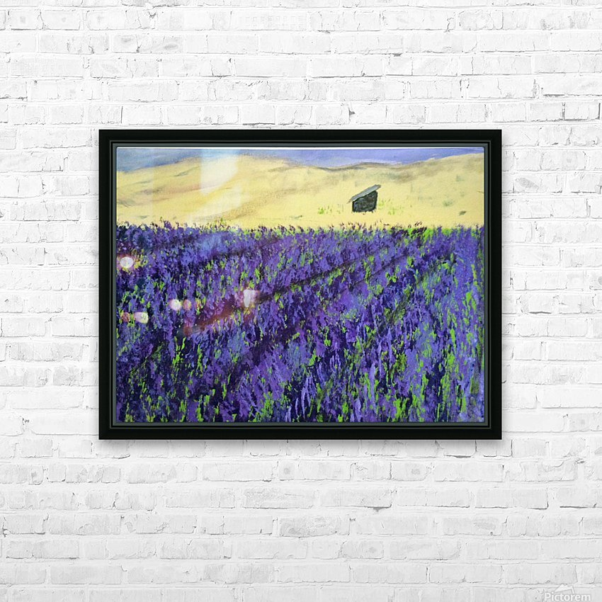 Purple Lavender fields painting HD Sublimation Metal print with Decorating Float Frame (BOX)