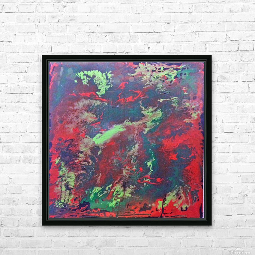 Red and Green Abstract HD Sublimation Metal print with Decorating Float Frame (BOX)