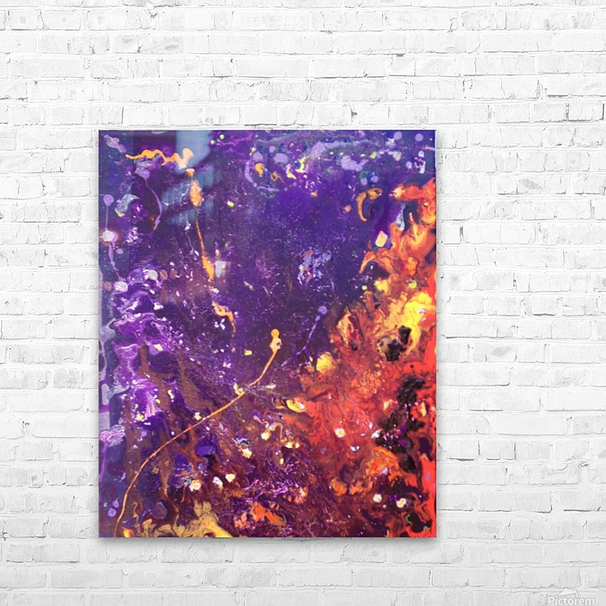 The Flow Purple and Orange Abstract HD Sublimation Metal print with Decorating Float Frame (BOX)