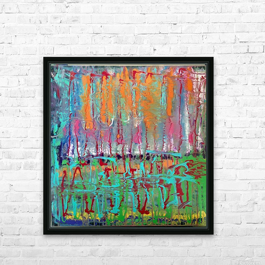 Three Ring Circus a Colorful Abstract Painting HD Sublimation Metal print with Decorating Float Frame (BOX)