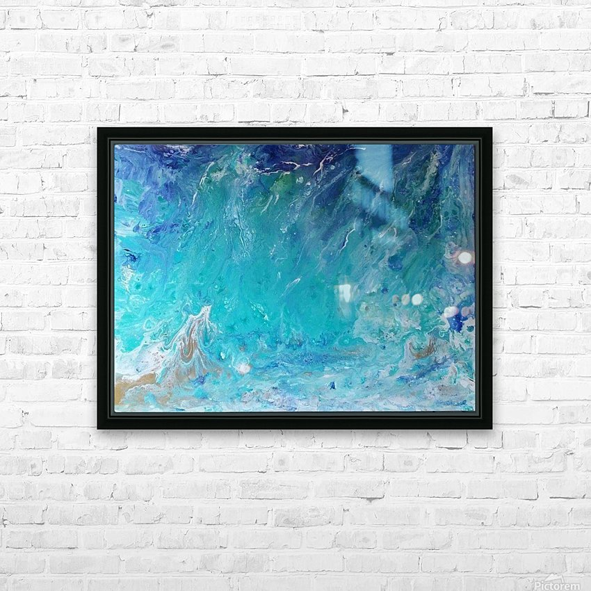 Wet an Abstract wave HD Sublimation Metal print with Decorating Float Frame (BOX)