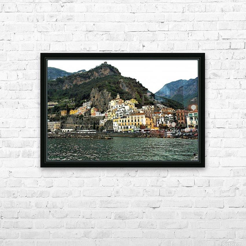 Italian Village Landscape - Amalfi HD Sublimation Metal print with Decorating Float Frame (BOX)