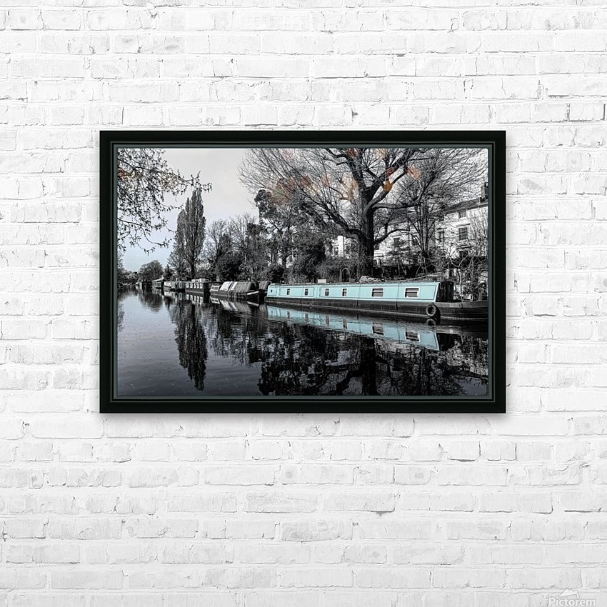 River and boats HD Sublimation Metal print with Decorating Float Frame (BOX)