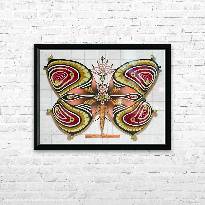 butterfly from the twenties HD Sublimation Metal print with Decorating Float Frame (BOX)